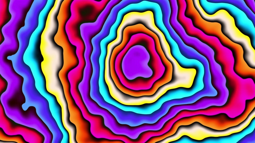Moving random wavy texture. Psychedelic animated abstract curved shapes. Looping footage. | Shutterstock HD Video #1035342116