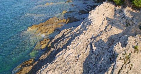 Aerial scene of Cape Kamenjak, Adriatic Sea, Istria, Croatia