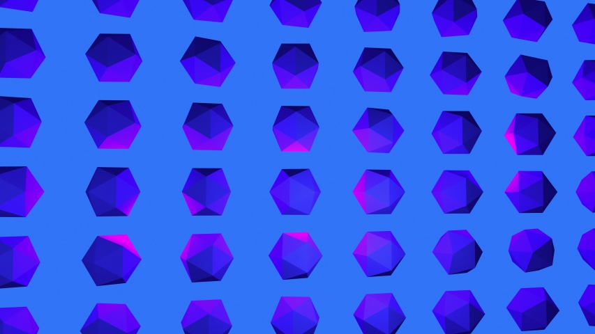 Projection Mapping abstract 3D rendering of geometric shapes. Computer generated loop animation. Modern background, seamless motion design for poster, cover, branding, banner, placard. 4k  | Shutterstock HD Video #1035364643