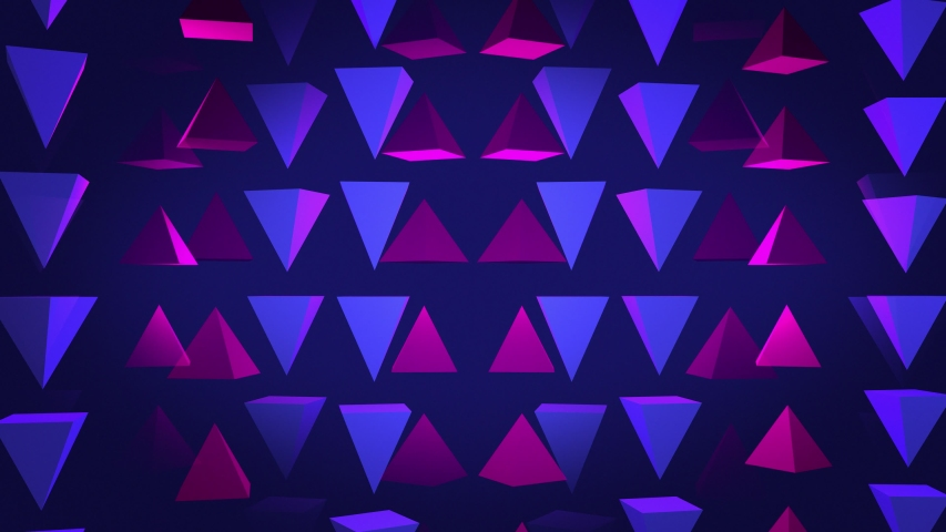 Abstract 3D background rendering of geometric pyramid shapes. Computer generated loop animation. Modern background, seamless motion design for poster, cover, branding, banner, placard. 4k  | Shutterstock HD Video #1035365033