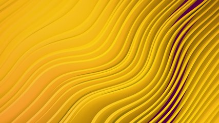 4k 3D animation of rows and rows of colorful popping yellow stripes rippling. Colorful wave gradient animation.. Future geometric patterns motion background. 3d rendering