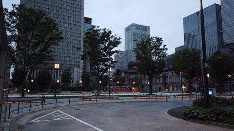 Tokyo station in Japan, Landscape