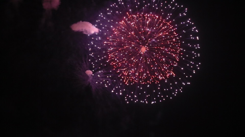 Fireworks display is a typical summer scene in Japan. | Shutterstock HD Video #1035401420