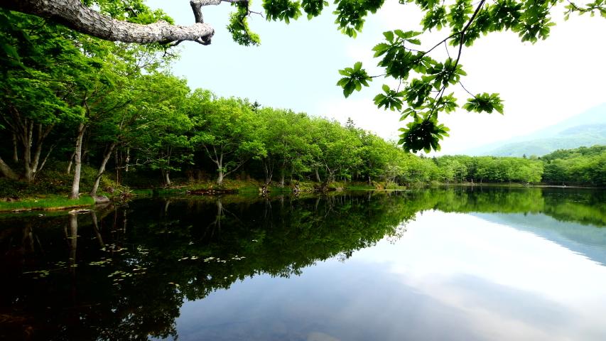 The 4th lake of 5 lakes in Shiretoko in Hokkaido Japan