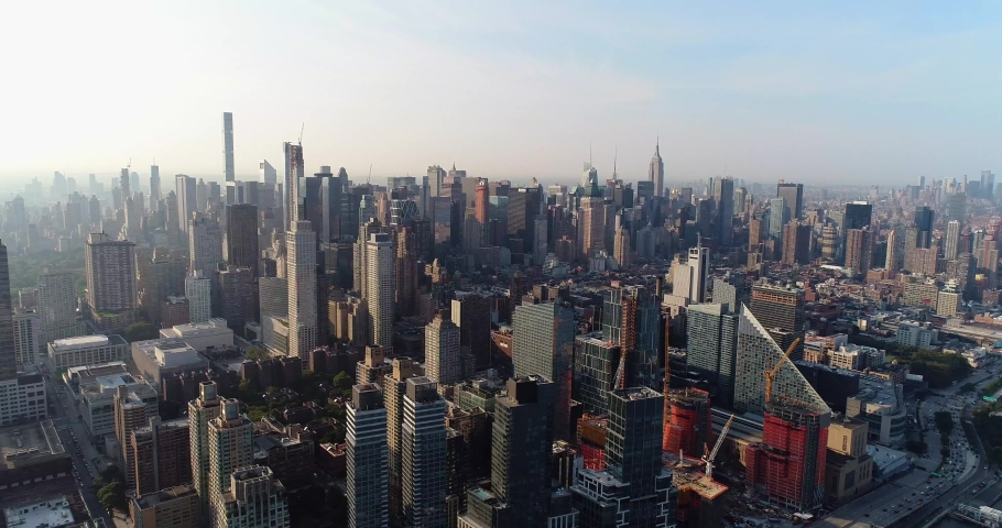 New York City Aerial 4k | Shutterstock HD Video #1035554015