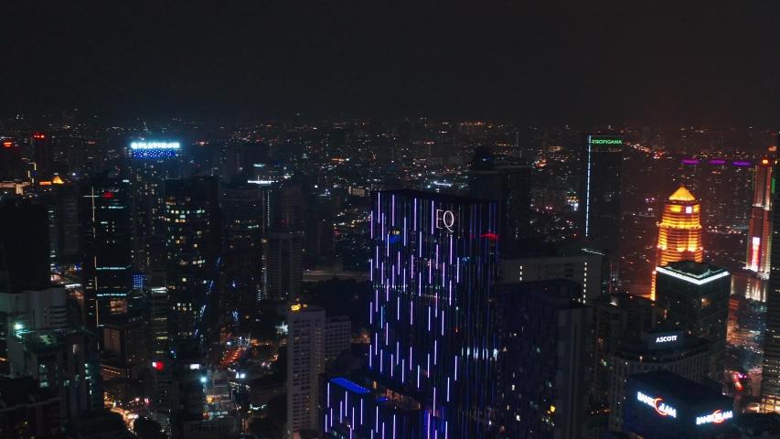Kuala Lumpur Malaysia - 14 Aug 2019, Kuala Lumpur Malaysia illuminated at night view | Shutterstock HD Video #1035564440