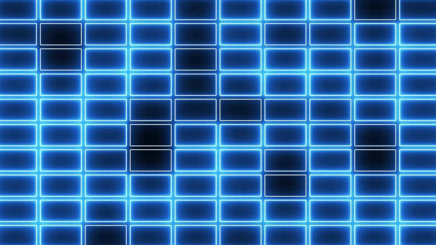 Abstract creative colorful neon grid background. Tiles, squares with glow, neon light.  | Shutterstock HD Video #1035597401