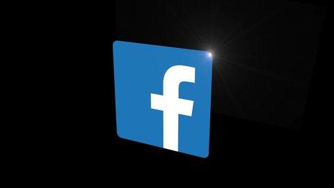 Black background icon facebook Facebook icons