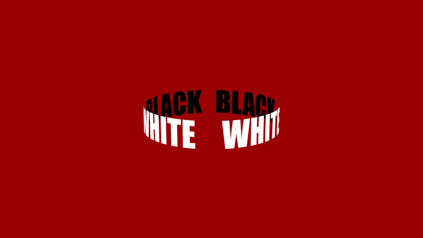 Spinning ring. White and black. Text animation. Minimal motion design. | Shutterstock HD Video #1035618743