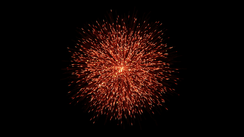 Fireworks for background and green screen. Magnificent holiday fireworks in celebration concept.  | Shutterstock HD Video #1035621419