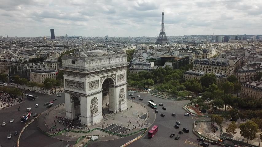 paris , france / France - 02 08 2019: Arc de Triomphe