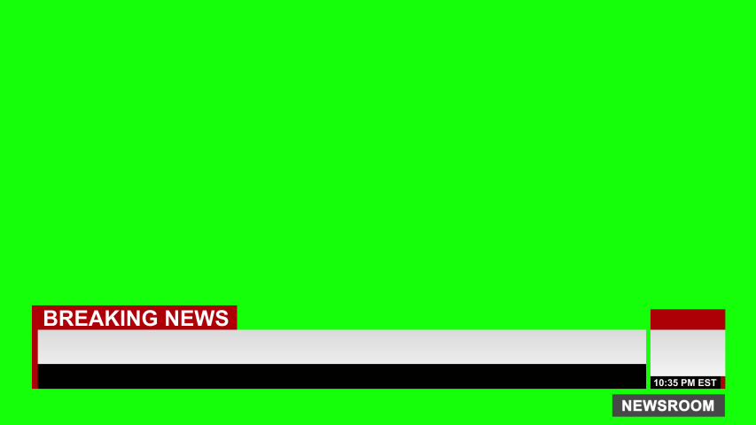 Cable News Blank Breaking News Lower Third Title Graphic Chyron