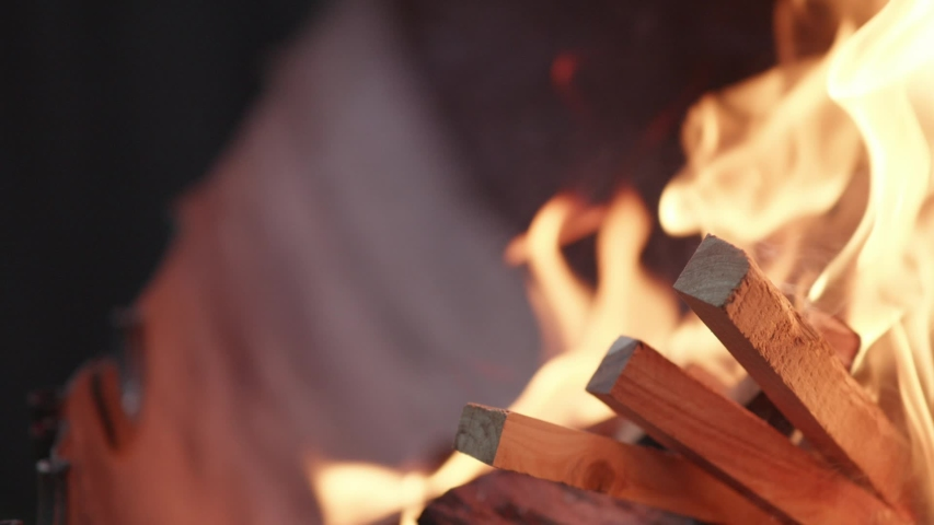 Small fire pit, close up | Shutterstock HD Video #1035675902