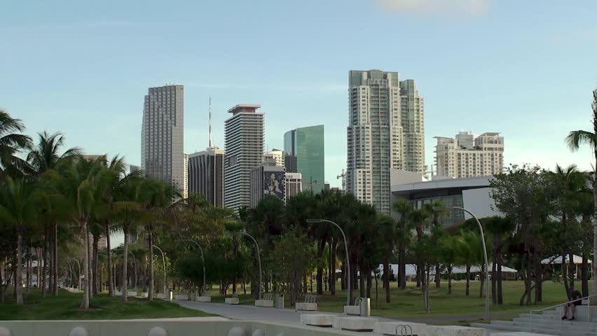 MIAMI  - APRIL 11: Museum Park in Miami downtown. April 11, 2015 in Miami, Florida, USA