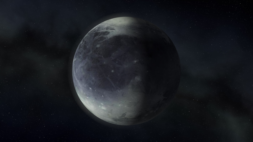 Pluto, planets of the solar system, space, 3D render, solar system, stars, galaxy | Shutterstock HD Video #1035734444