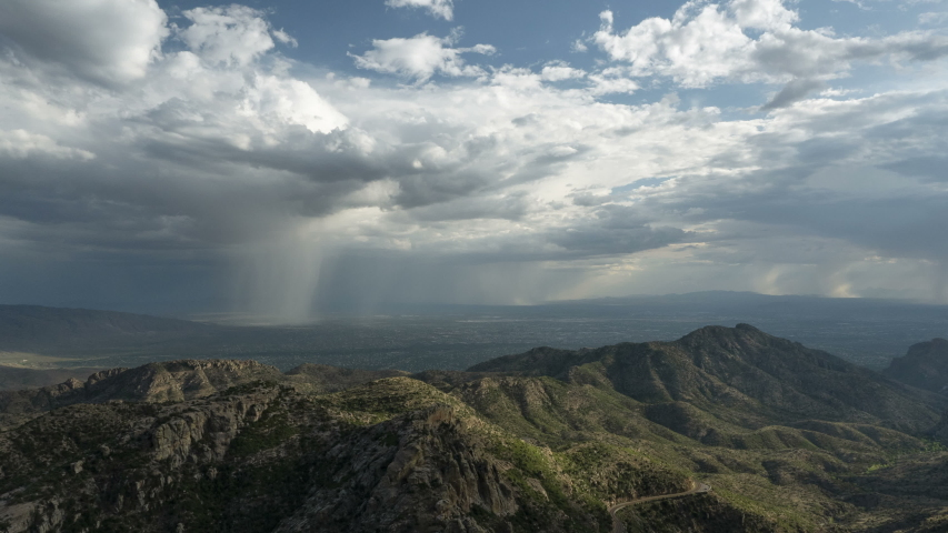 Time lapse of a monsoon storm over the Tucson valley