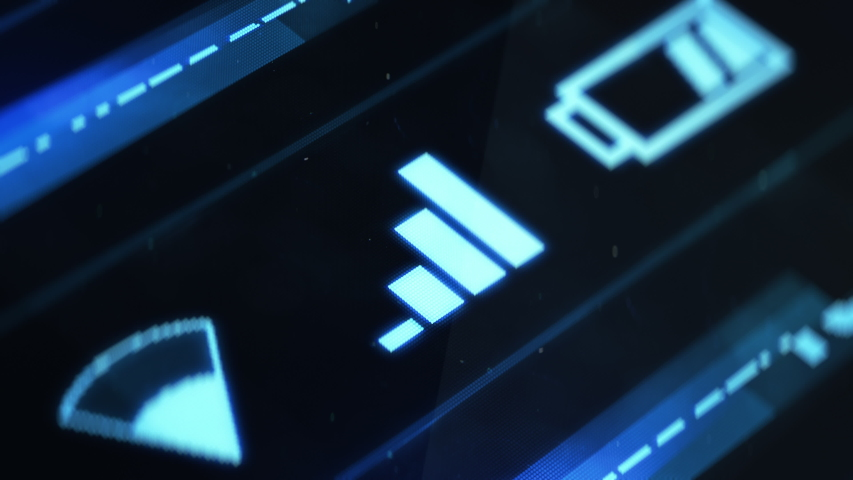No signal on smartphone, losing connection, out of range, disconnected icon Royalty-Free Stock Footage #1035755930