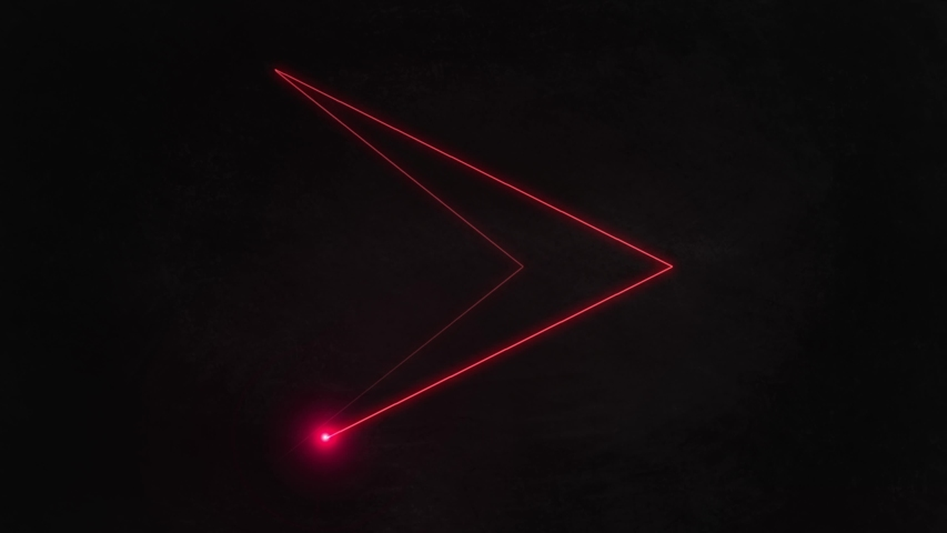 arrow beam in red laser effect with ray mp4 video #1035757394