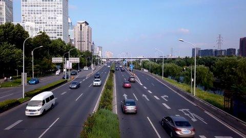 Beijing traffic time lapse / motion lapse