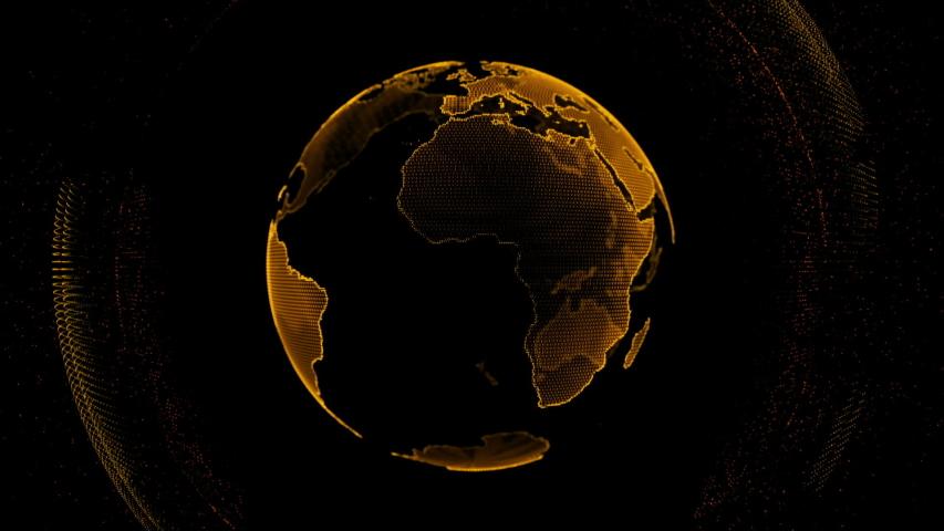Motion globe futuristic style design global fractal light | Shutterstock HD Video #1035791816