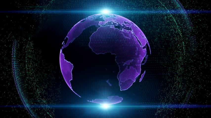 Motion globe futuristic style design global fractal light | Shutterstock HD Video #1035791819