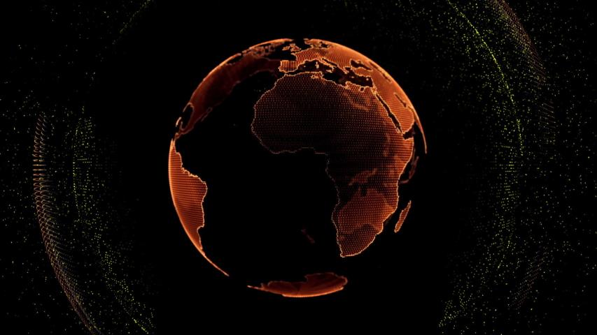 Motion globe futuristic style design global fractal light | Shutterstock HD Video #1035791828