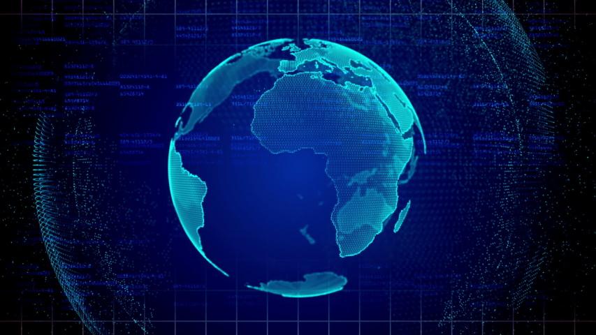 motion globe futuristic style design global fractal light #1035791831