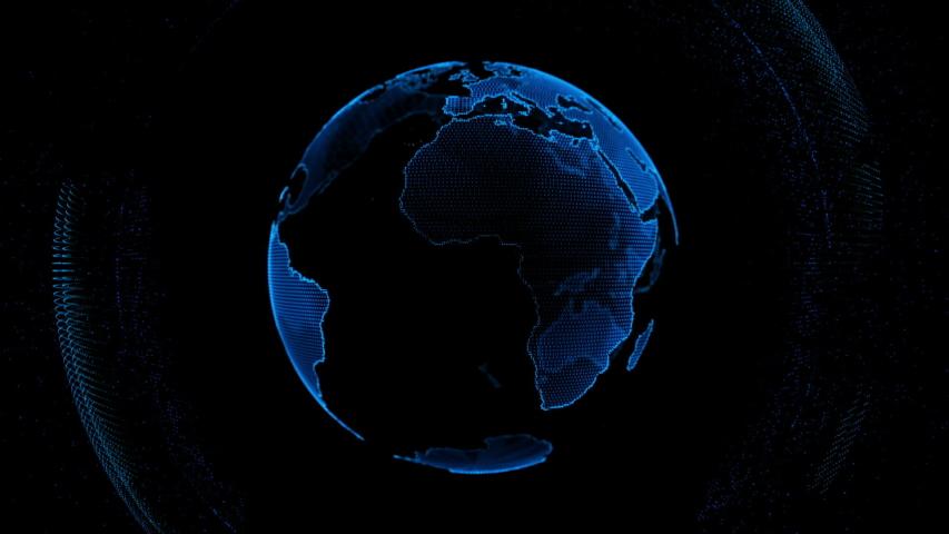 motion globe futuristic style design global fractal light Royalty-Free Stock Footage #1035791837