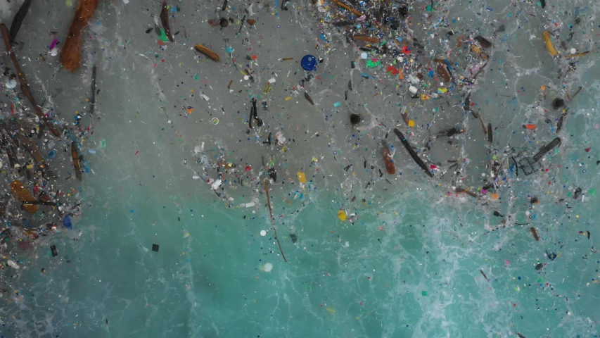 The worlds most polluted beach, Plastic marine debris. Royalty-Free Stock Footage #1035829892