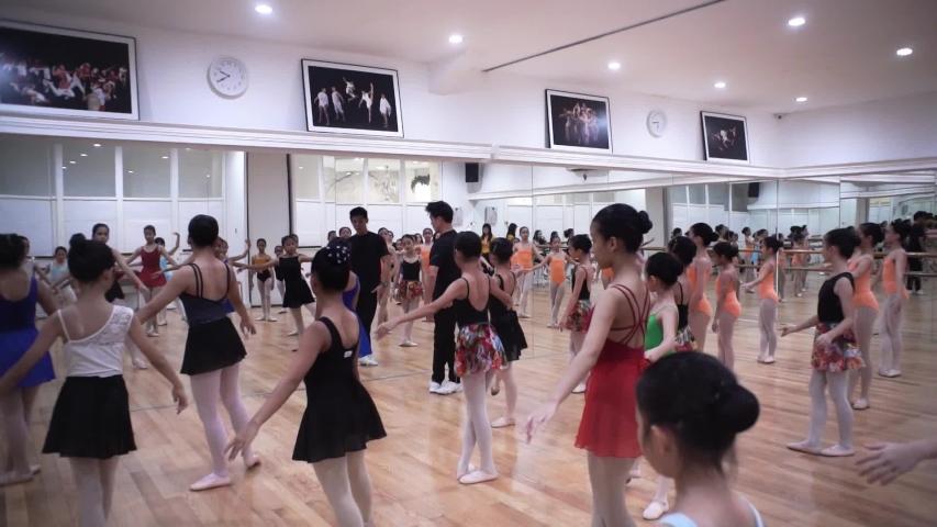 jakarta , jakarta / Indonesia - 06 17 2019: ballerina is taking practice