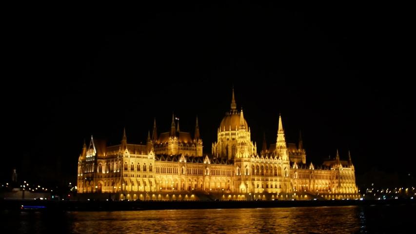 Budapest Night Parliament shooting in 4k format   Shutterstock HD Video #1035910073
