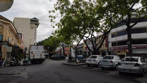 George Town Penang, Malaysia August 2019 : George Town City during day time indicating good tourism