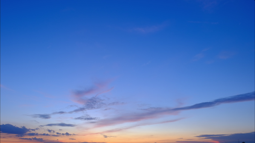 4K Time lapse, beautiful sky with clouds background, Sky with clouds weather nature cloud blue, Blue sky with clouds and sun, Clouds At Sunrise. | Shutterstock HD Video #1035964130