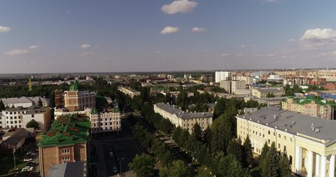 YOSHKAR-OLA, RUSSIA - JULY 29, 2019: Yoshkar-Ola, Russia, the tourist center of the city.