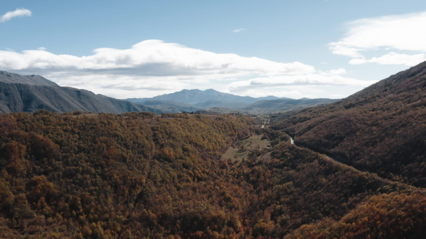 Montenegro autumn landscape aerial view | Shutterstock HD Video #1036056326