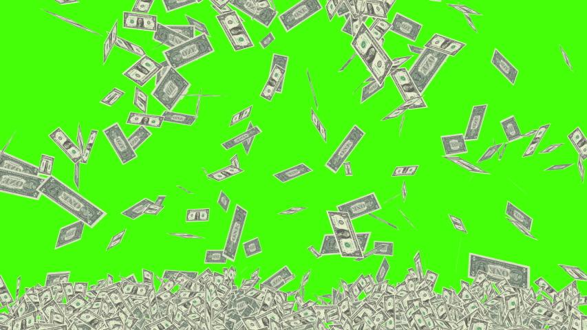 Green Screen Dollar Bills Rain Effects Animation, Money Rain 4k business animation success, Money dollars rain effect animation green screen, Dollar bills falling rain green screen business success | Shutterstock HD Video #1036093892