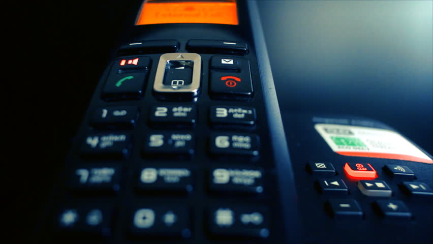 Answering machine phone ringing. Close up of a answering machine phone ringing