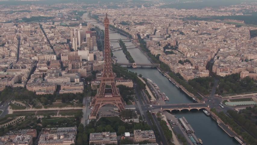 Famous Eiffel Tower in Paris, France | Shutterstock HD Video #1036272179