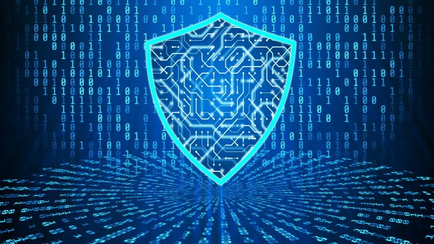 Cyber shield, protection against malware spyware app digital anti virus software | Shutterstock HD Video #1036292729