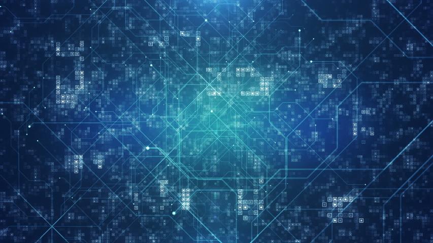 Futuristic Digital Technology Abstract Background.   Shutterstock HD Video #1036335578