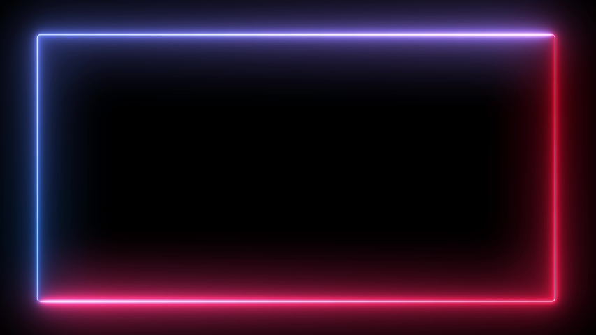 Looping Seamless Neon Frame in Blue and Red Colors | Shutterstock HD Video #1036364531