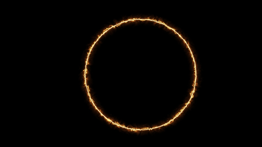 Energy Neon Glowing Circle Frame | Shutterstock HD Video #1036364630