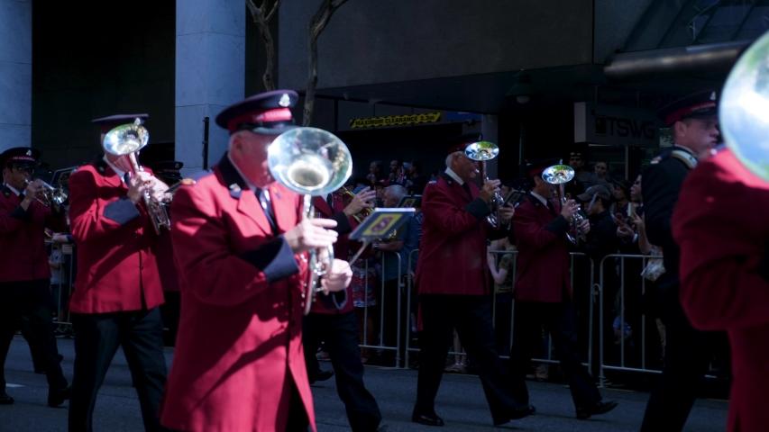 Brisbane , qld / Australia - 07 01 2019: Anzac day, anzac parade brisbane, 2018 | Shutterstock HD Video #1036387868