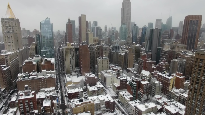 New York/New York  01/02/2019  video from New York in the winter