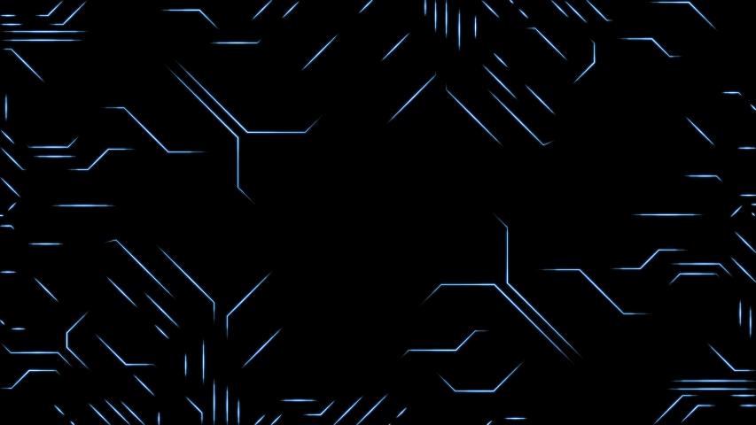 CPU Circuit Board Blue On Black Background - 3D Illustration | Shutterstock HD Video #1036481672