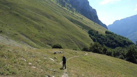 Beautiful Albanian Mountain Landscape in summer