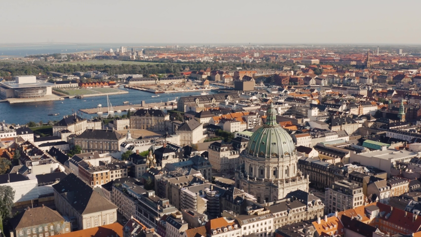 Cityscape of Copenhagen, the capital of Denmark Royalty-Free Stock Footage #1036537271
