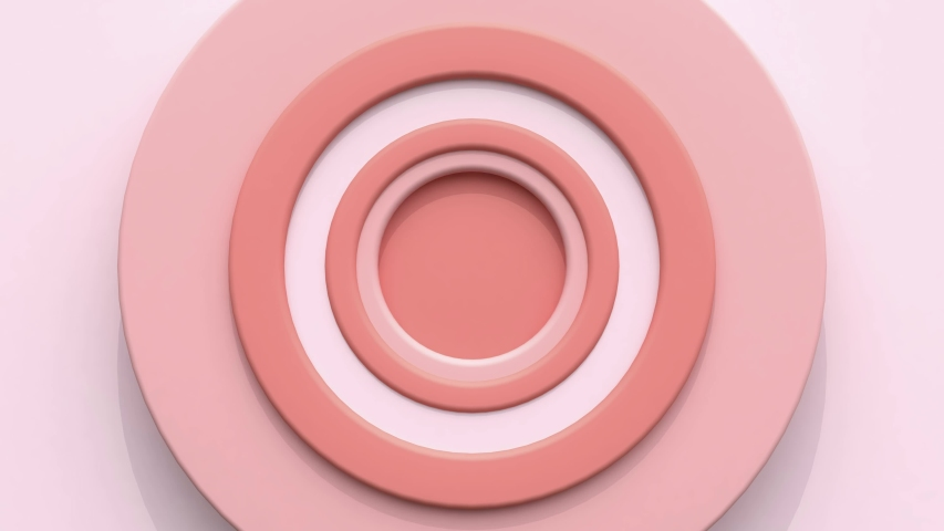 Pink white circle target abstract motion 3d render   Shutterstock HD Video #1036546649