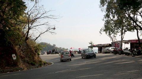 Dehradun , Uttarakhand / India - 11 22 2018: India city traffic on India roads