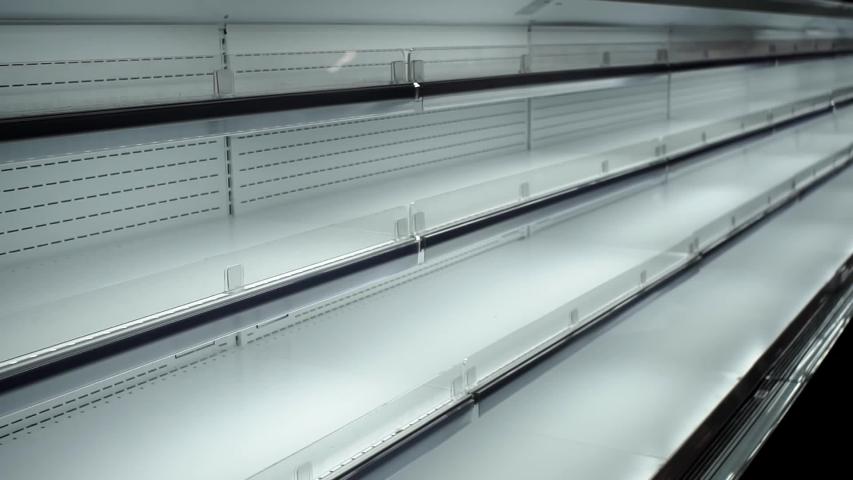 Empty store shelves sale of goods | Shutterstock HD Video #1036654466